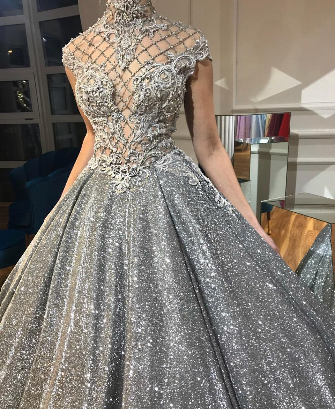 4fd15fc29 silver designer dress | Dress UP in 2019 | Dresses, Prom dresses ...