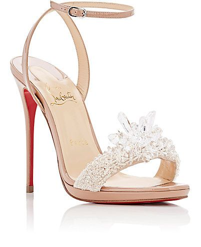 445e0b5f203 Christian Louboutin Crystal Queen Patent Leather Sandals - Heels - 505051000