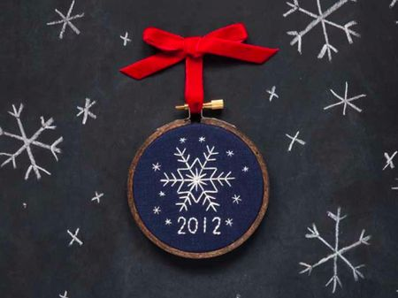 Christmas Tree Shaped Ornaments are handmade from 100% Recycled Eco  Friendly Felt, Hand Embroidery