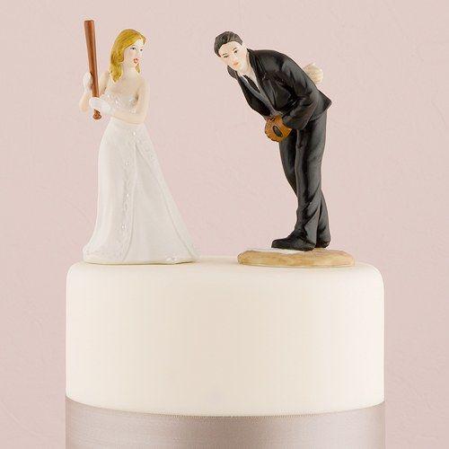 Baseball Wedding Cake Topper The Knot Shop Funny Wedding Cake Toppers Personalized Wedding Cake Toppers Baseball Wedding Cakes