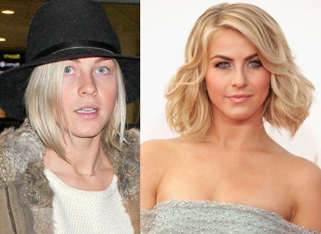 celebrities before and after makeup transformations