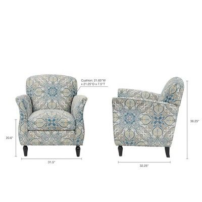 Best Accent Chairs Blue Brown Brown Blue Blue Accent Chairs 400 x 300