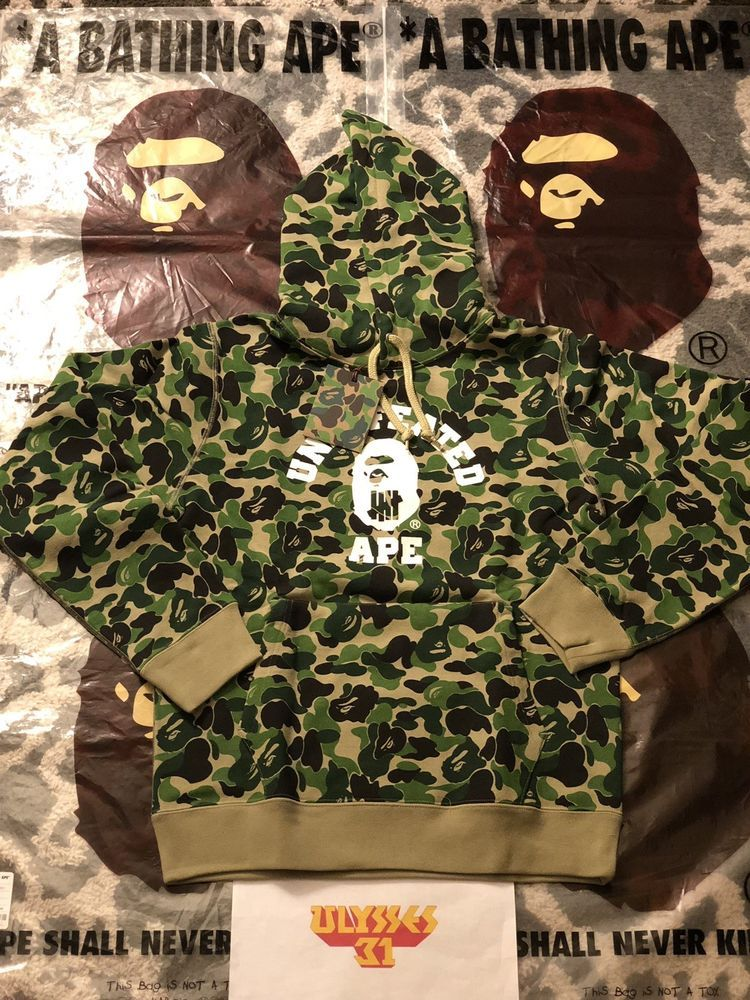 1694a7b36f2  BAPEUNDEFEATED HOODIE 100% Authentic  Undefeated  BapeHoodie Bape