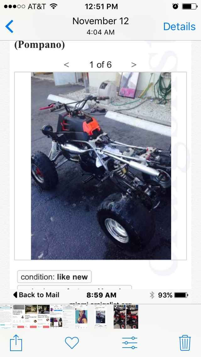 Used 2007 Yamaha 350 TWIN ATVs For Sale in Florida  Brand new