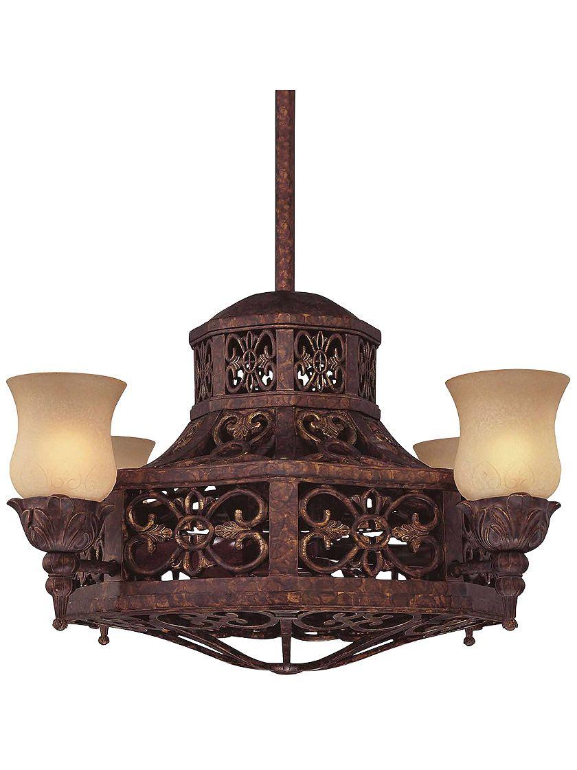 Fandian 52 Vintage Ceiling Fan With Lights Industrial Chandelier