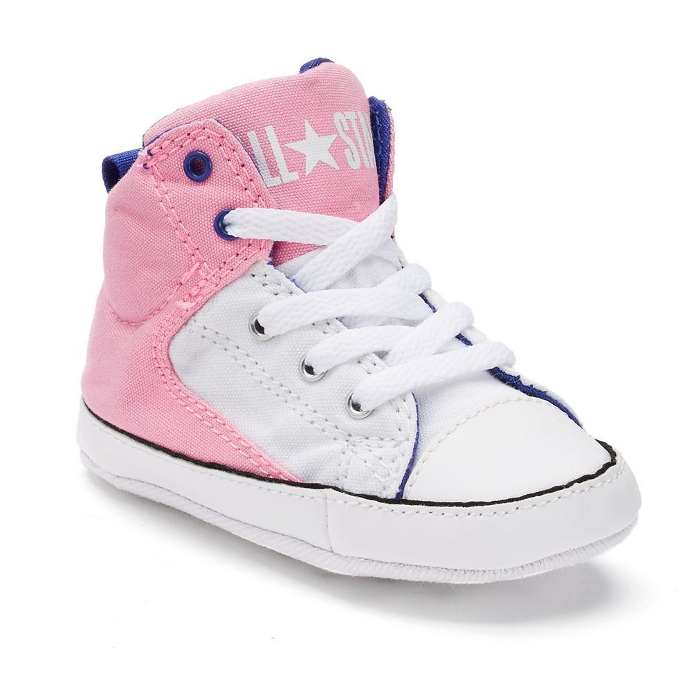 6d478837bbe819 Baby Converse Chuck Taylor All Star First Star High Street Glittery Crib  Shoes