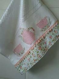 Resultado de imagem para pano de prato com barrado de tecido diferente