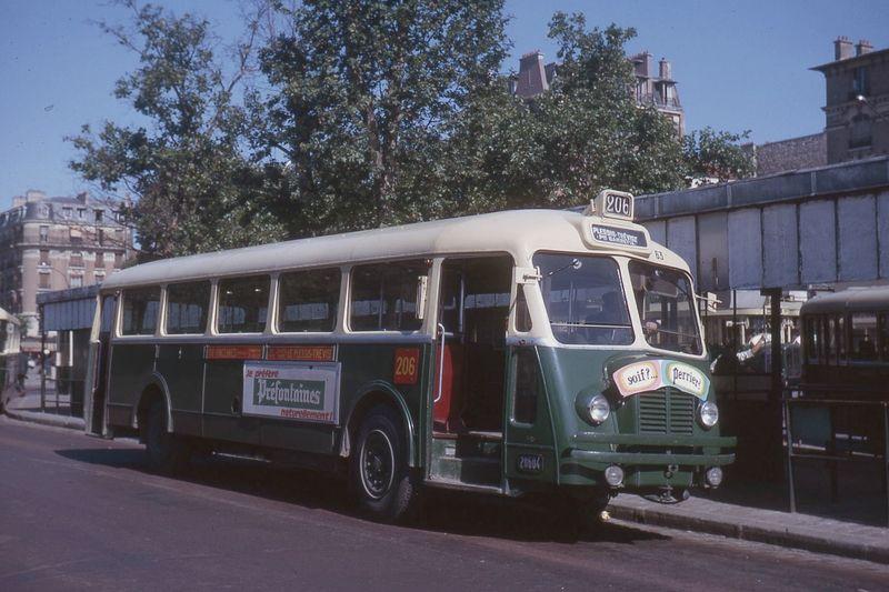 60 ans de livrée sur les autobus parisiens
