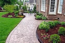 Cement Sidewalk Ideas Concrete Design Decorative Options For A Walkway