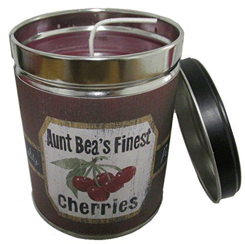 Introducing Black Cherry Scented Candle in 13 oz Tin with Vintage Cherries Label  Made in the USA by Our Own Candle Company. Get Your Ladies Products Here and follow us for more updates!