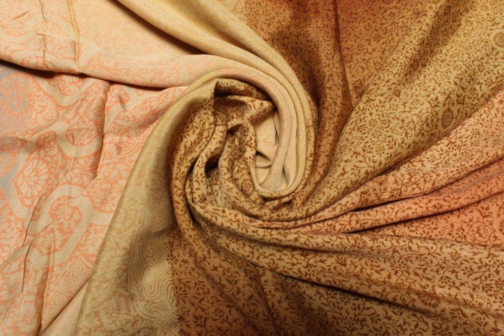 Beautiful Vintage Pure Silk Sari Dressmaking Used Fabric Craft Sari 5 Yard Floral Multi Color Soft Woven Wrap Decor #PS 3290 #saridress