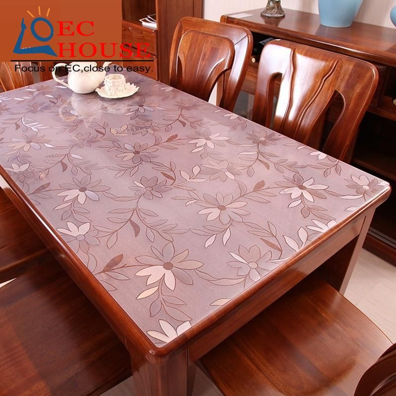 Thickening PVC Waterproof And Oil Proof Dining Cloth Plastic Mat, Tea Table  Pad, Soft