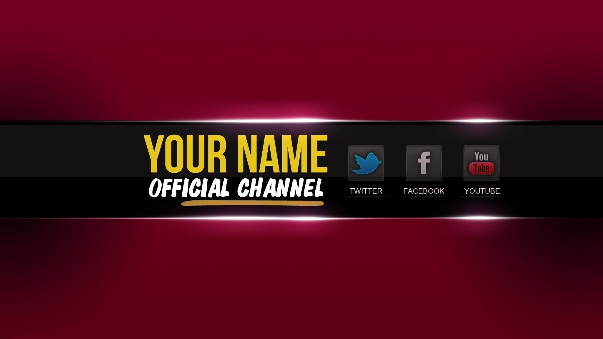 2048x1152 Youtube Banner Template Psd Cyberuse For Banner