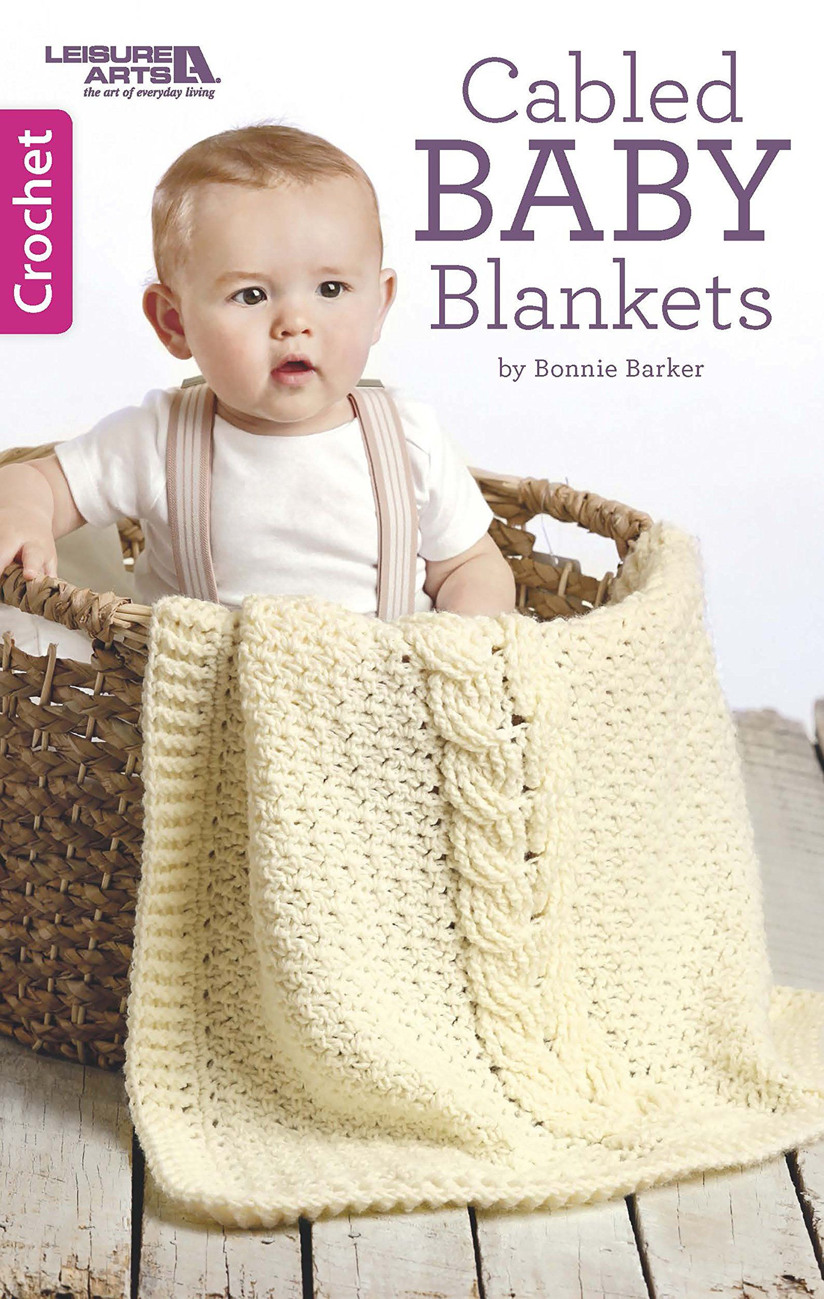 Create 4 adorable baby blankets using crochet cables! | Knit and ...