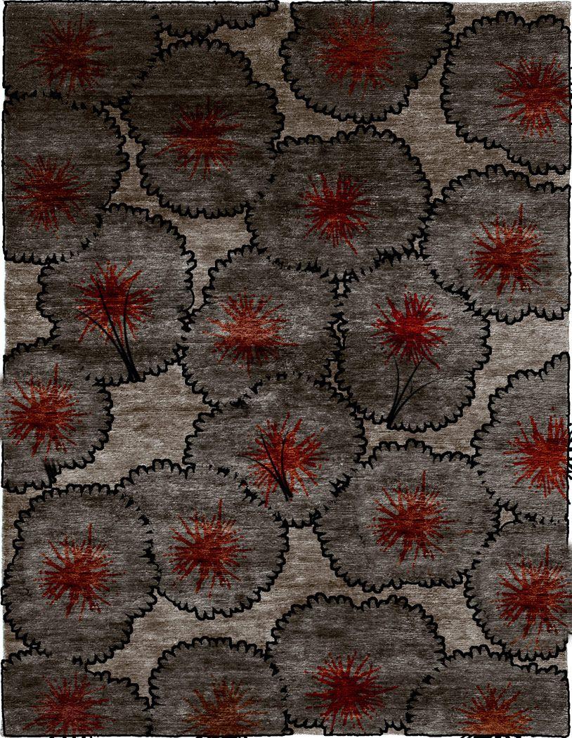 Christopher Fareed Cygnus Hand Knotted Tibetan Rug Wool Area Rugs Area Rugs Grey Area Rug