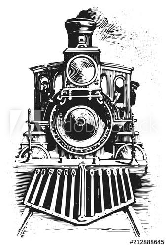 Steam Locomotive Railway Vector Isolated Lokomotive Lok Buy This Stock Vector And Explore Similar Vectors At Adobe Sto Train Drawing Train Art Locomotive