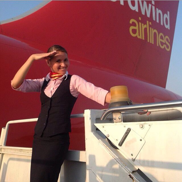 Nordwind Airlines Stewardess Plane Girls With Charm