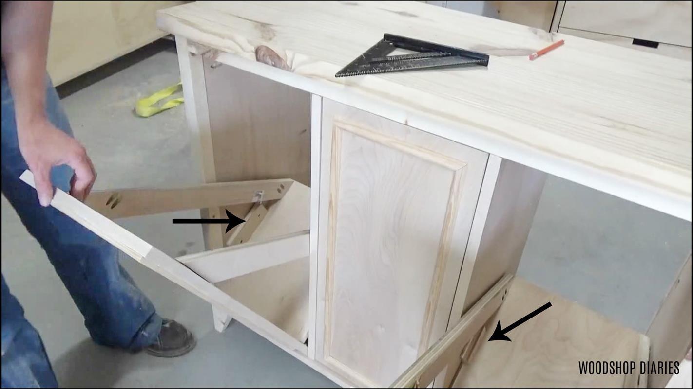 Diy Tilt Out Laundry Hamper Cabinet Buildsomething Com Laundry Hamper Hamper Storage Hamper Cabinet