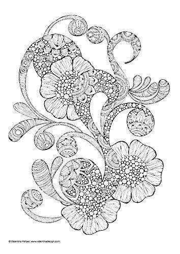 Malen für die Seele Blumen: Art Activity gegen Stress: Amazon.de ...