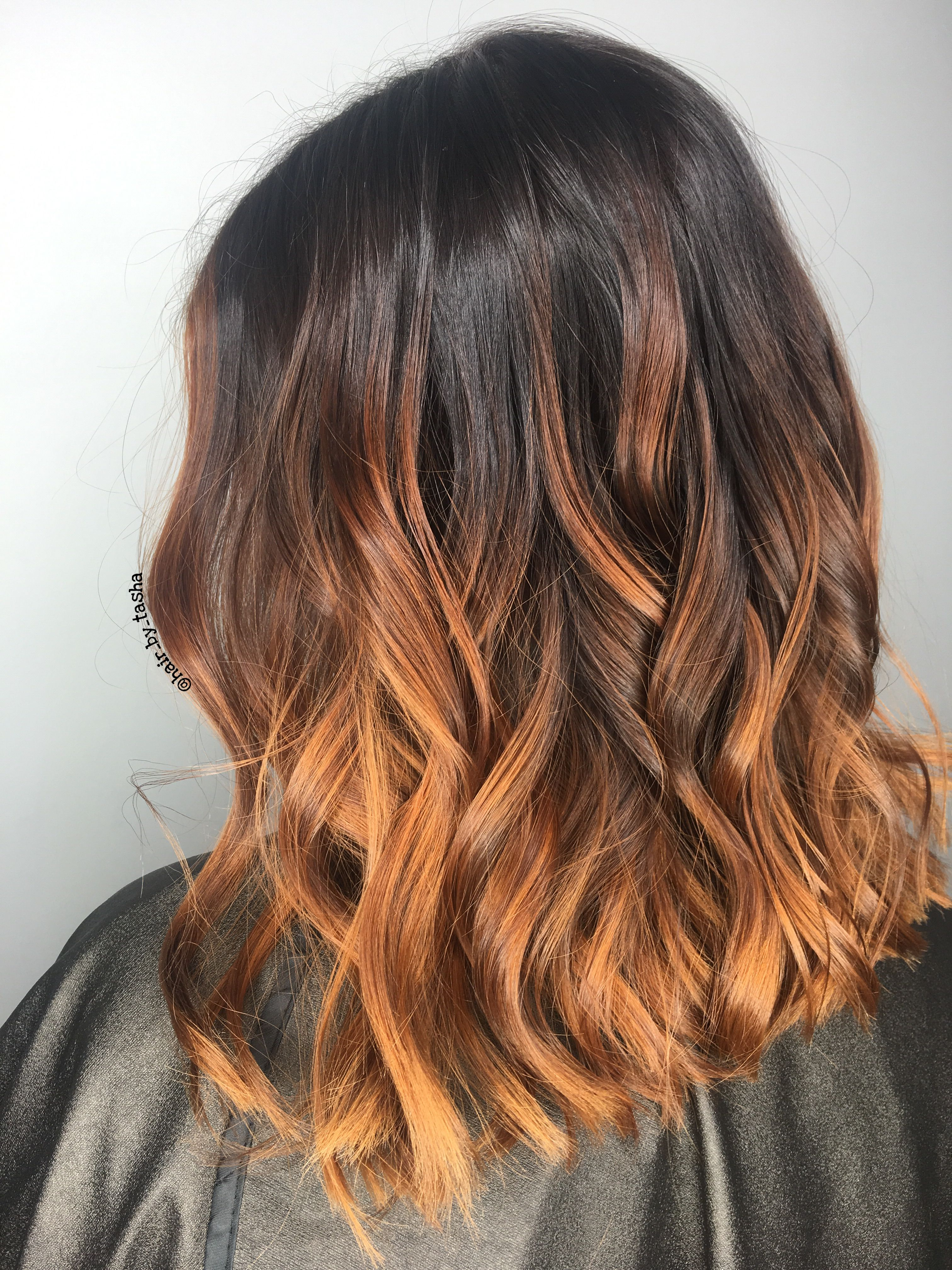 Copper hair, red hair, red ombré, copper Balayage, unique ...