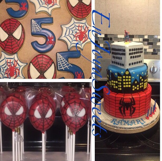 Spider-Man birthday cakes