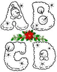Inverno e Natal alfabetos