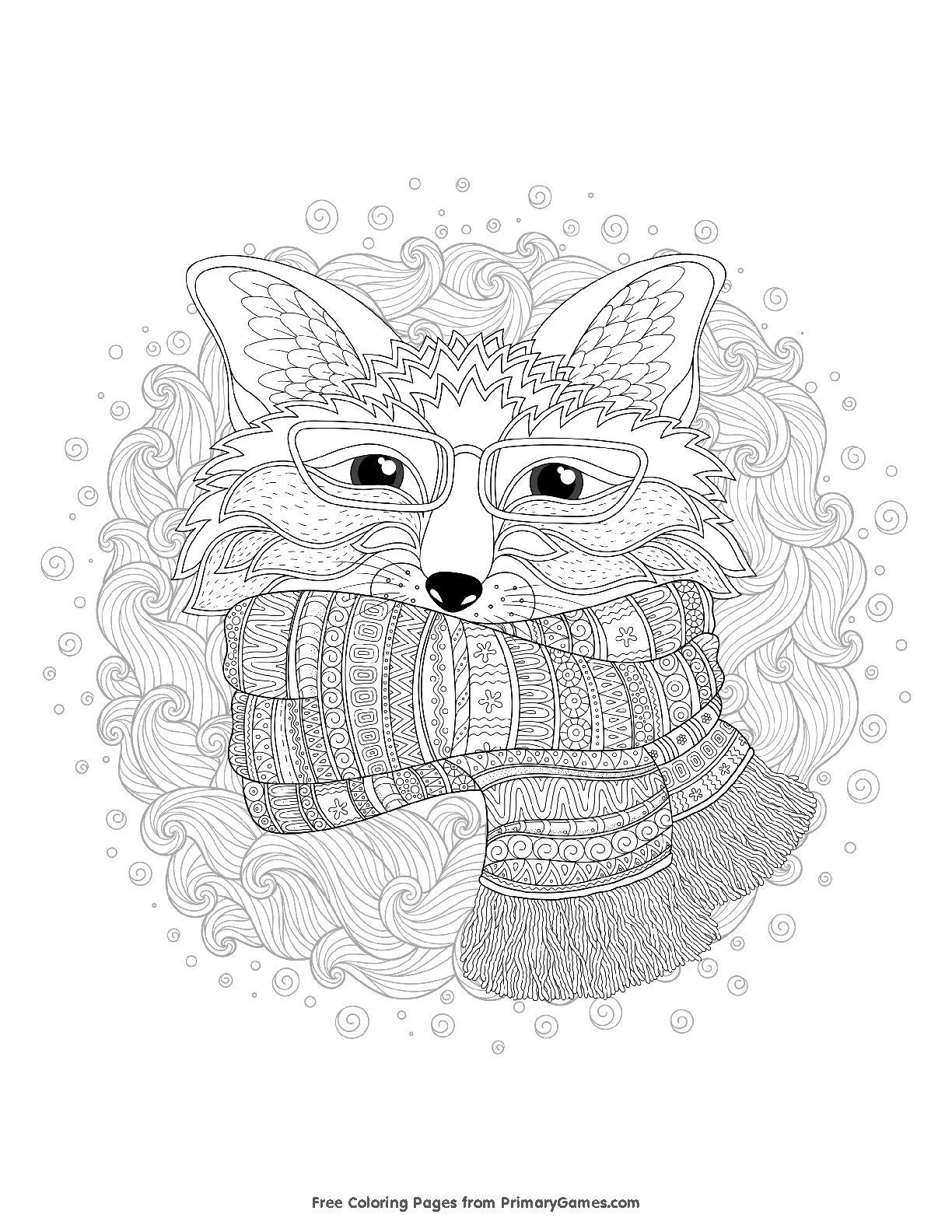 Pin By Katharina Kostritzer On Coloring Anti Stress Raskraski Antistress Fox Coloring Page Coloring Pages Winter Coloring Pages