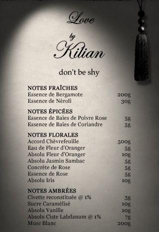 By Kilian Love  Formula from mimifroufrou.com