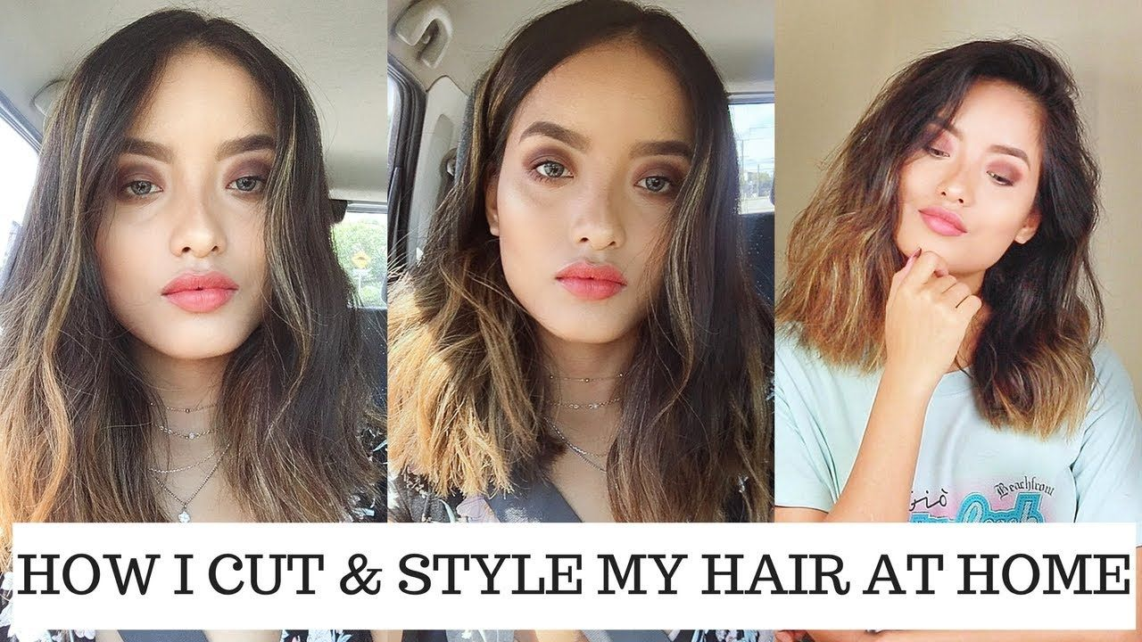 HOW TO CUT + STYLE YOUR OWN HAIR AT HOME | DIY HAIRCUT | Kerline Bay Deb #diyhaircut