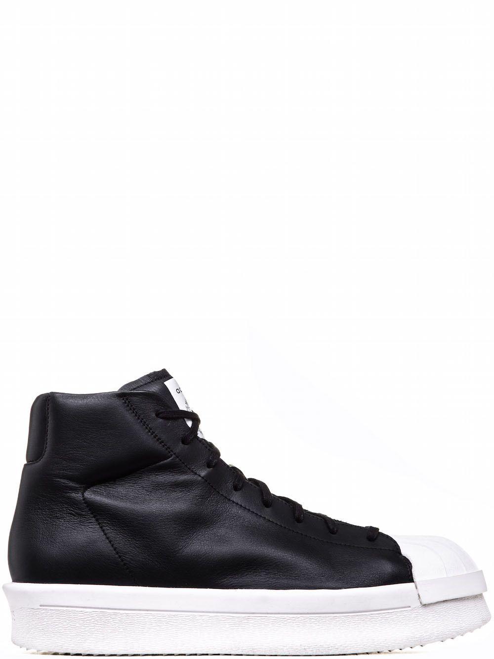 rick owens fw17 glitter adidas mastodonte basso scarpe in nero