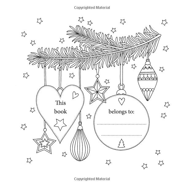 С Рождеством: красивая раскраска для взрослых: Амазонка.ко ...