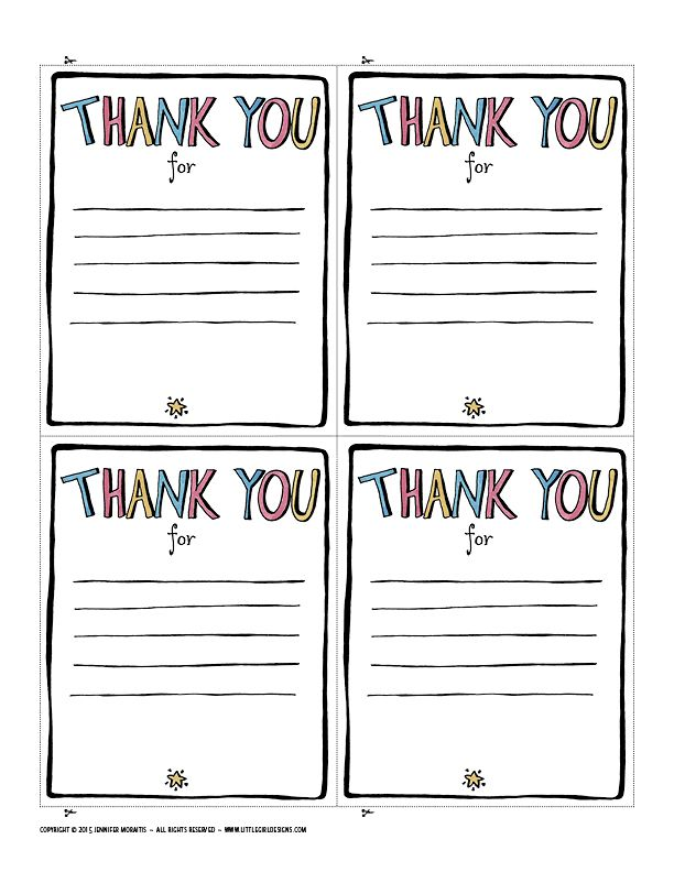 9 Fun Ways To Say Thank You Little Girl Designs Thank You Printable Thank You Note Template Printable Thank You Notes