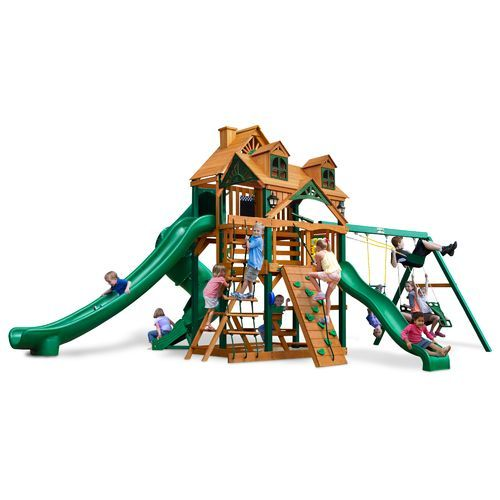 Gorilla Playsets Malibu Deluxe Ii Swing Set Brown Light 03