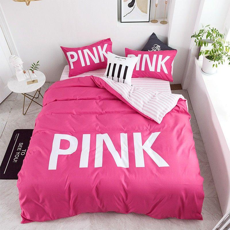 Victoria Secret Pink Comforter Set Queen Size With Images