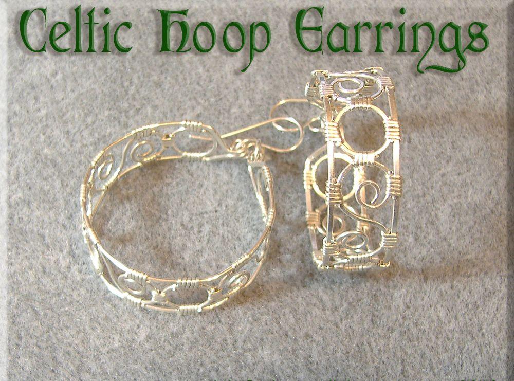 Celtic Hoop Earrings | JewelryLessons.com | Wire Jewelry Ideas ...