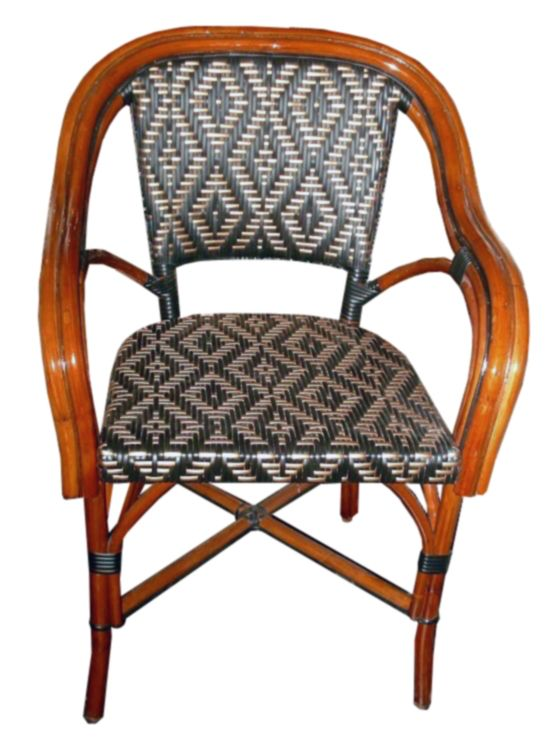 Wa Hoo Designs French Bistro Arm Chair Hk 1175 Weave