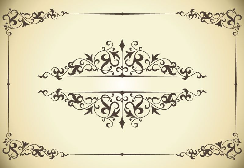Free Vintage Printable Butterfly Borders