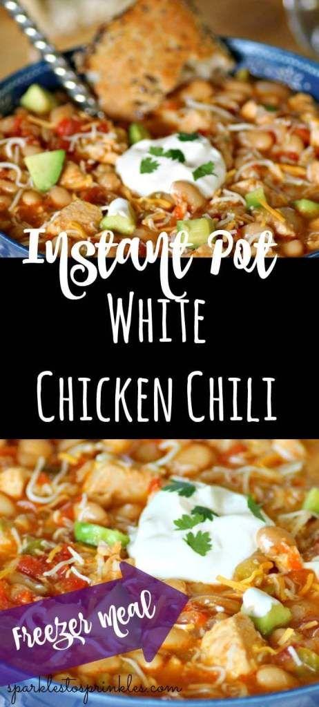 Instant Pot White Chicken Chili #whitechickenchili