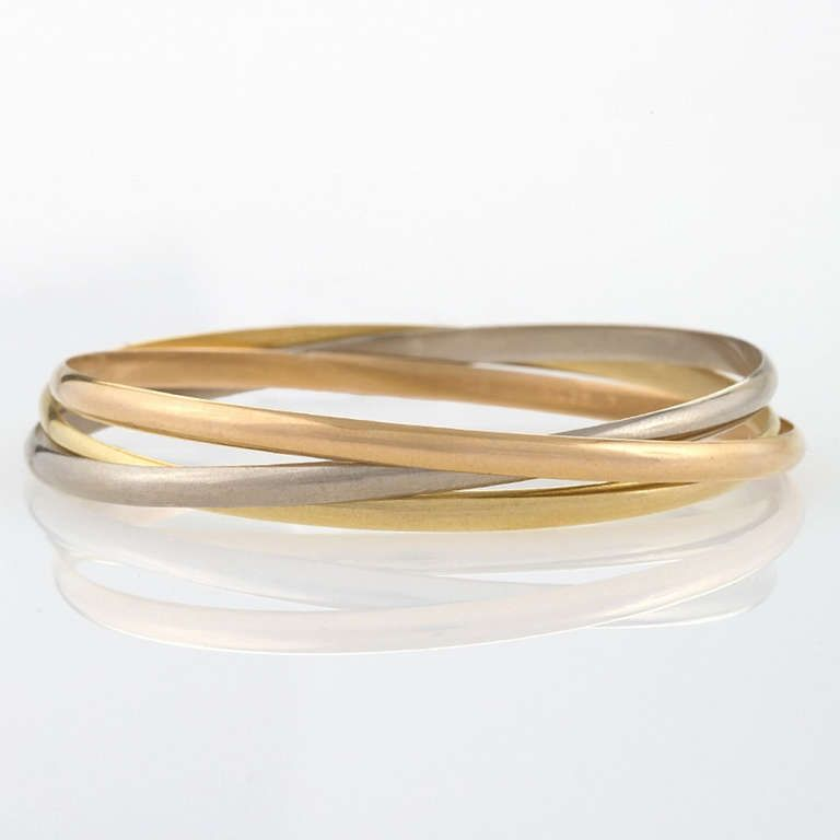 0fe40d06df5e1 Cartier Trinity Tricolor Gold Bangle Bracelets in 2019 | All Things ...