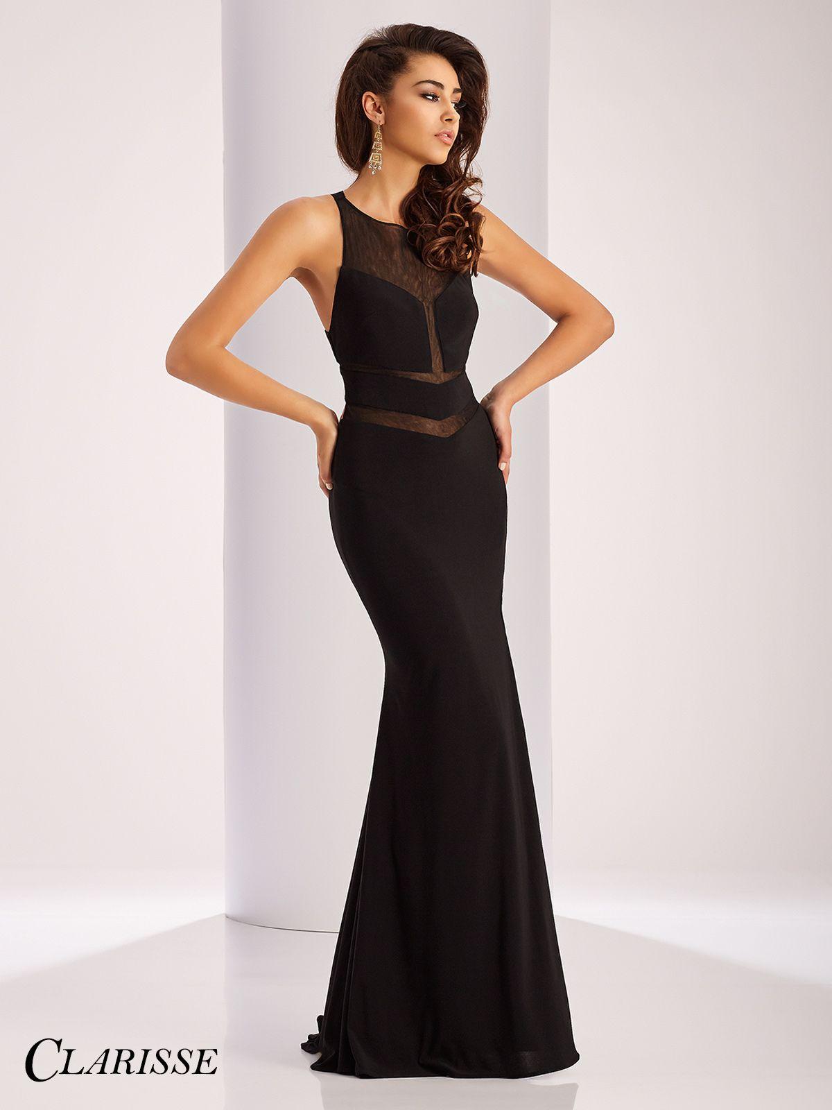 Clarisse prom dress sleeveless prom dress with sheer mesh