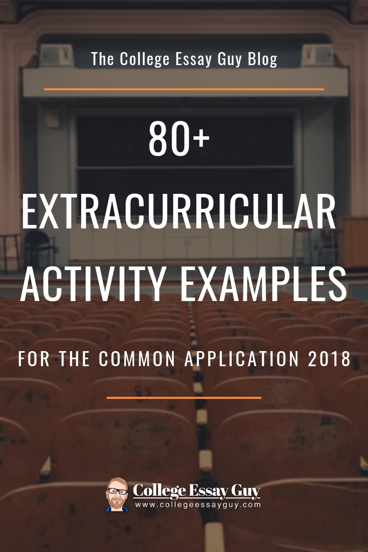 80 Extracurricular Activity Examples For The Common Application Life Hacks For School Extra Curricular Activities Extra Curricular