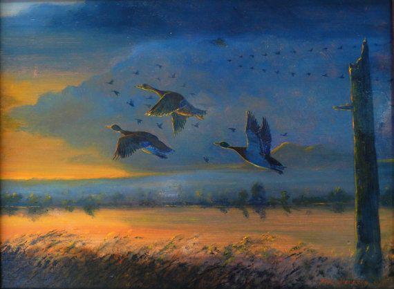 Mallards Taking Off Duck paintings Mallard by KentJacobsonArtist