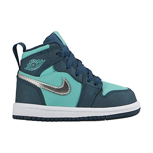 e2e32c12f151 Jordan Retro 1 High Hyper JadeMetallic SilverMidnight TurquoiseWhite  Toddler 8 M US Toddler     You can find more details by visiting the image  link.