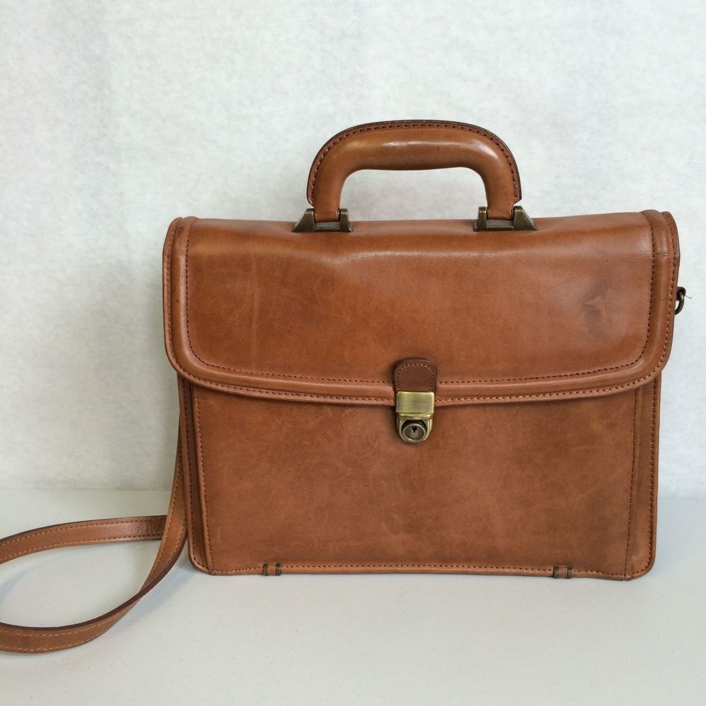 e76b4c63a9 Georgetown Leather Designs Messenger Shoulder Bag Briefcase Brown With Key   GeorgetownLeatherDesign  BriefcaseAttache