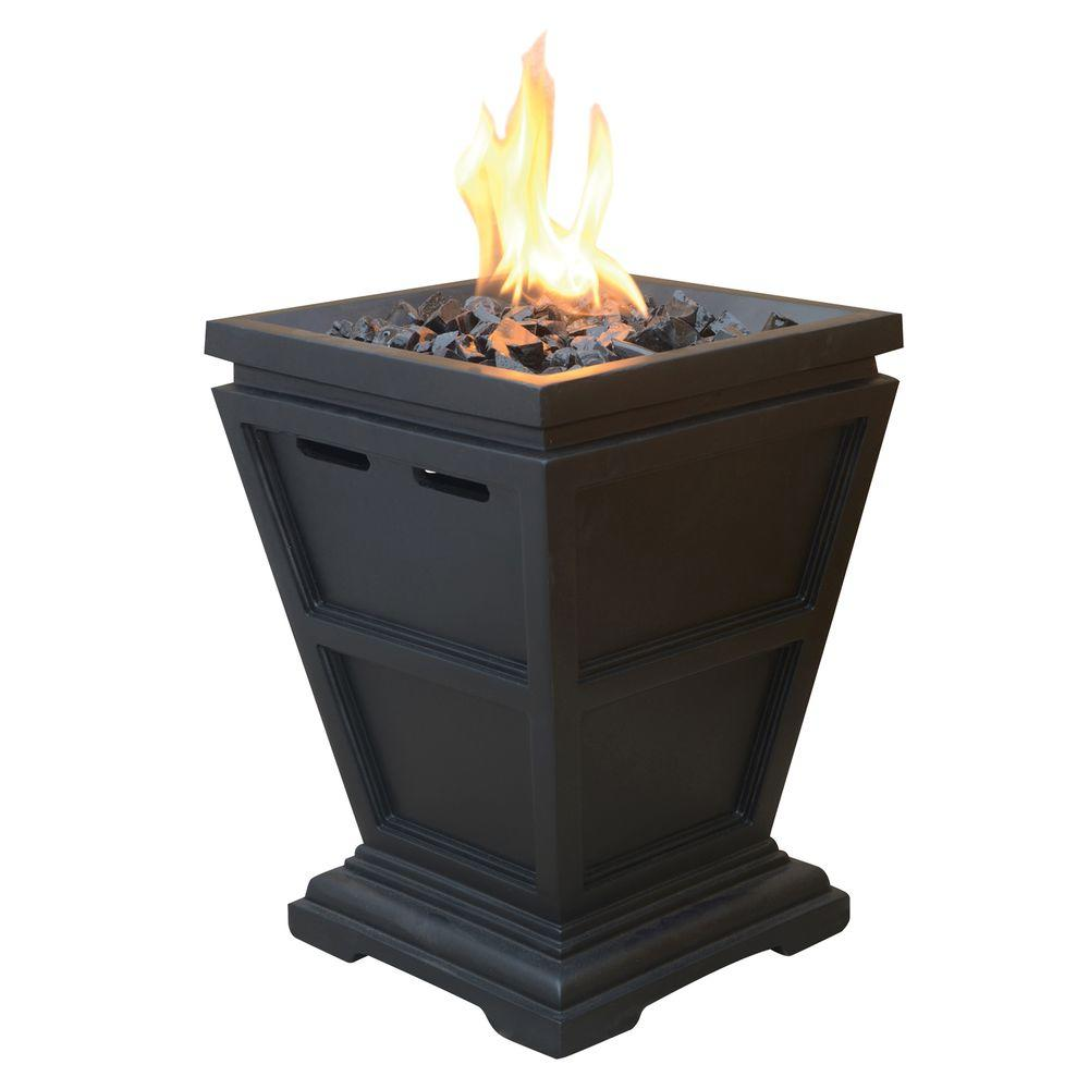 Uniflame Tabletop 10 5 In X 10 5 In Propane Gas Fire Pit Glt1343sp The Home Depot Small Fire Pit Tabletop Fireplaces Gas Firepit