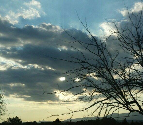 I see you! Bright-eyed #clouds above Ottana, #Sardinia