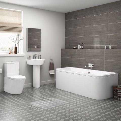 1700mm Lyon Back To Wall Bathroom Suite Soak Com Traditional Bathroom Bathroom Design Small Traditional Bathroom Suites