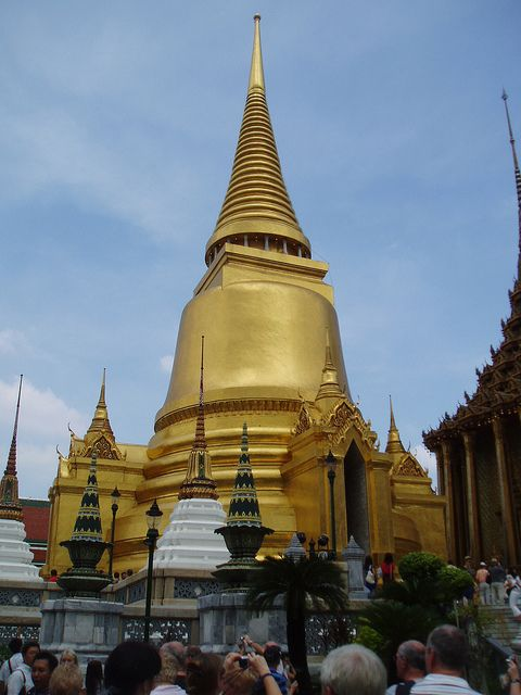 Golden Stupa Wat Phra Kaew Bangkok State function Bangkok and