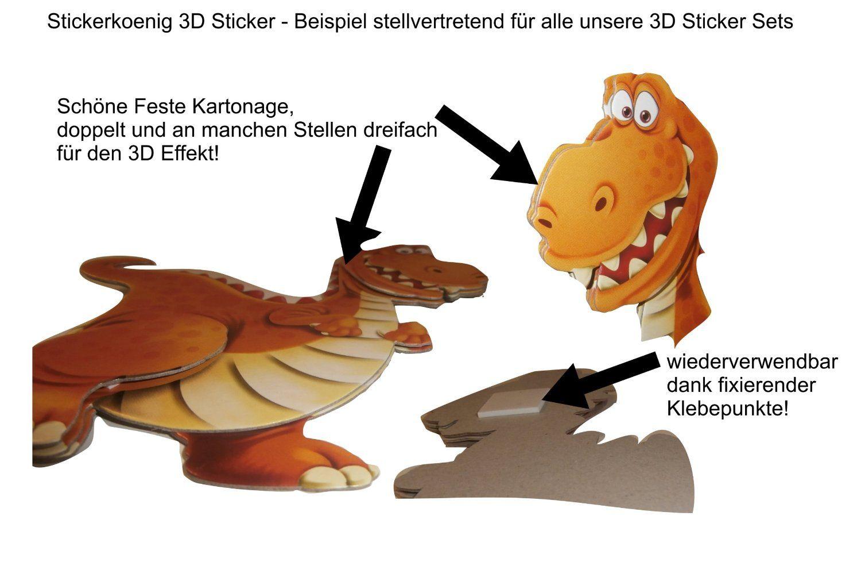 Stickerkoenig Wandtattoo 3D Sticker Wandsticker Kinderzimmer ...