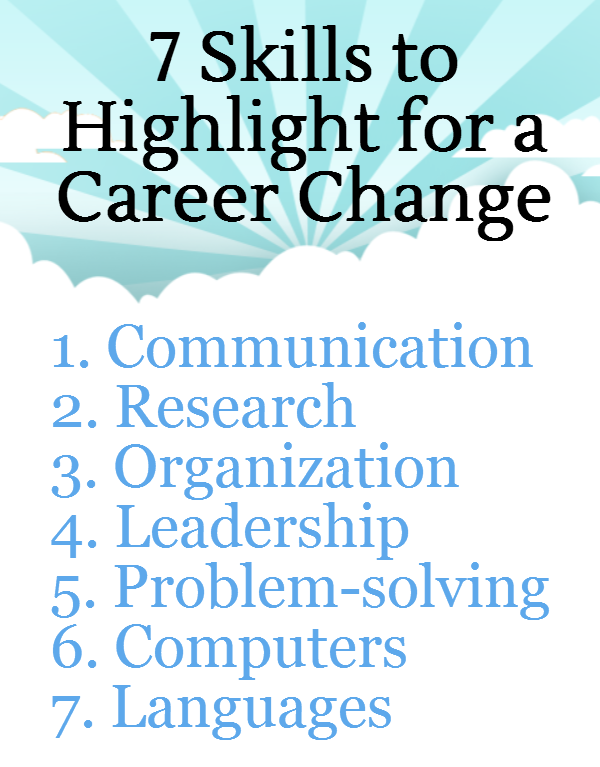 are looking at changing your career 7 transferable skills for career changers - Change Of Career Resume